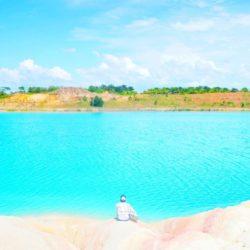 Danau Biru di Bintan Sei Lepan